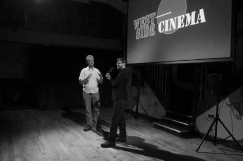 West Side Cinema's Mark Jenkins and guest speaker