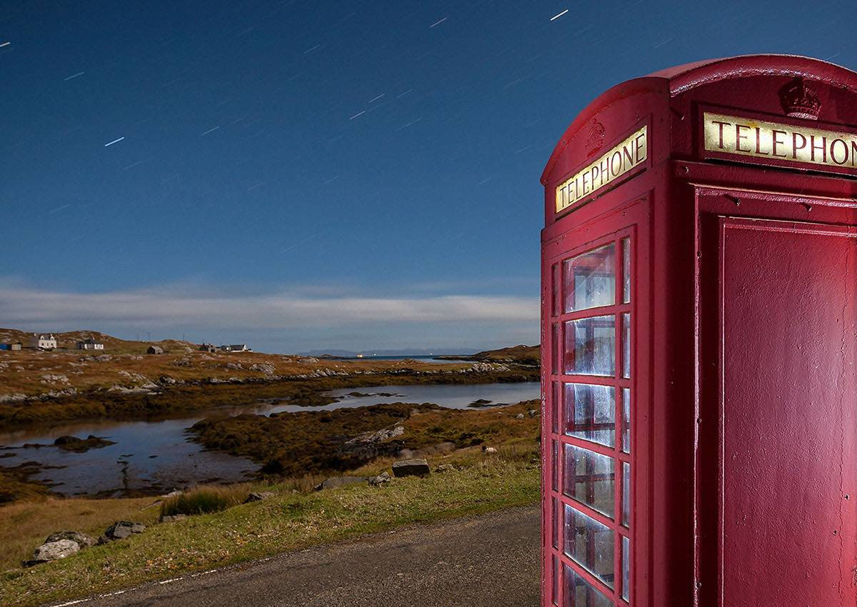 John Maher, Moonlit phone box, Harris