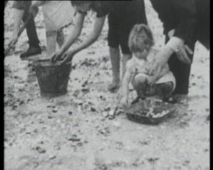 Castlebay - Cocklepicking in 1930s